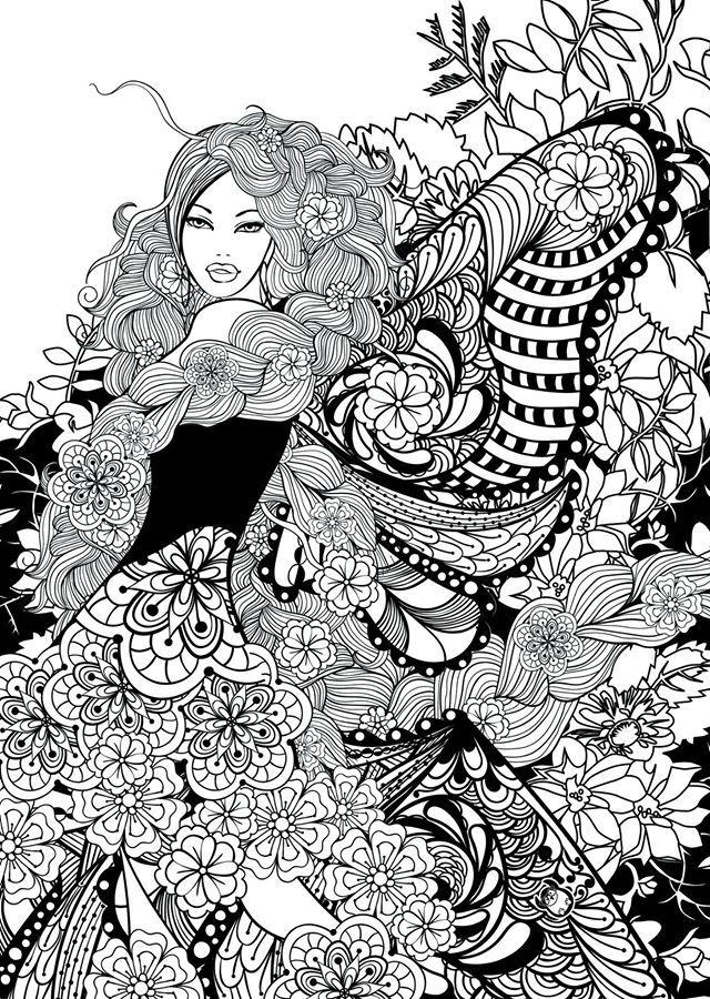 Раскраски для девочек — handmade