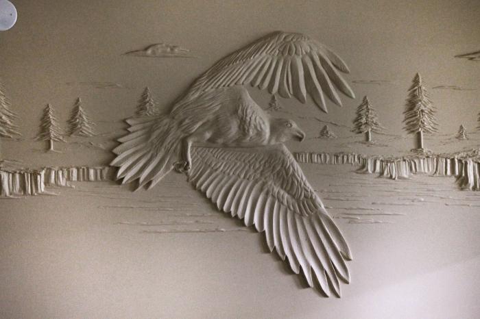 Орёл в полёте.