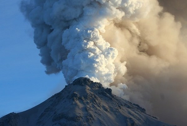 Вулканический пепел с Камчат…