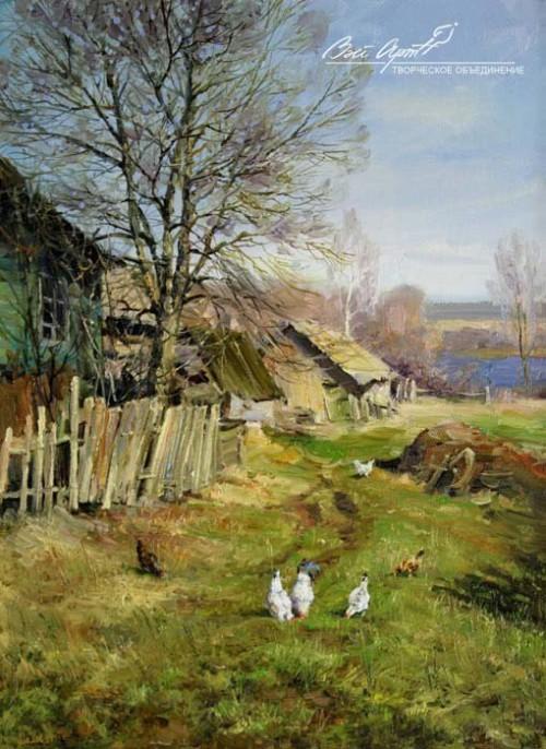 пейзажи художник Сергей Малов - 15