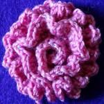 Вязание крючком. Двухслойный цветок