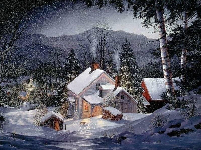 Деревенский уют. Тёплые картины Fred Swan