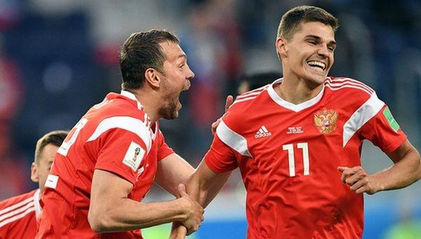 Россия разгромила Египет со счетом 3:1