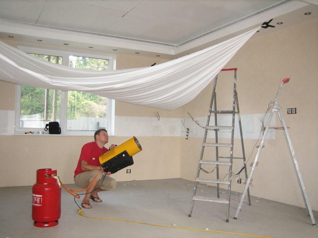 Натяжные потолки своими руками фото уроки