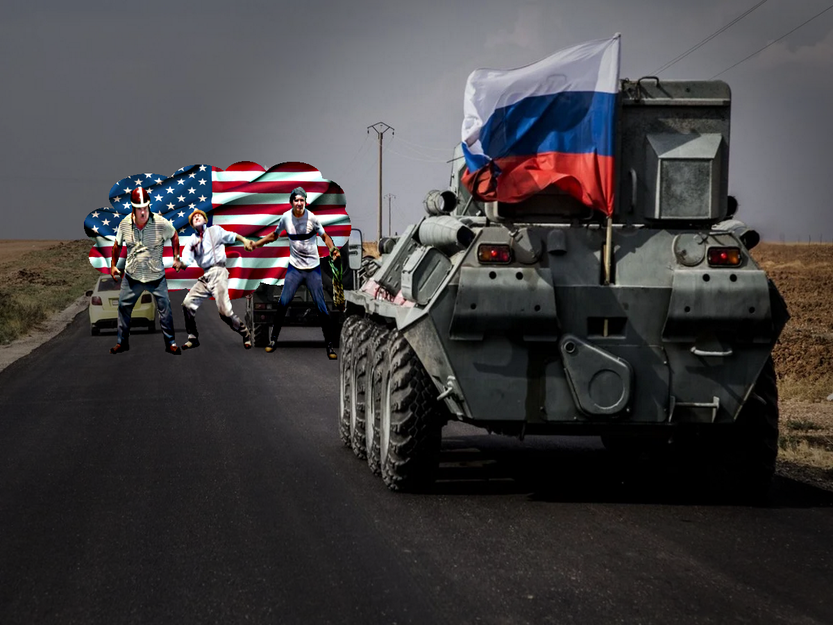"""Колонну российских военных попыталась задержать армия США в Сирии. Патруль РФ """"прорвался"""" через оцепление - сообщает РИА ФАН"""