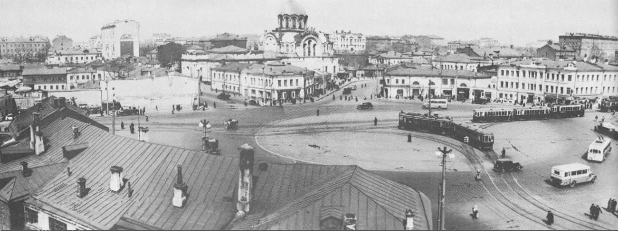 Калужская площадь. Фото 1971 года интересное, москва, старые фото, фото