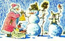 Сказка про Деда Мороза и зайчонка