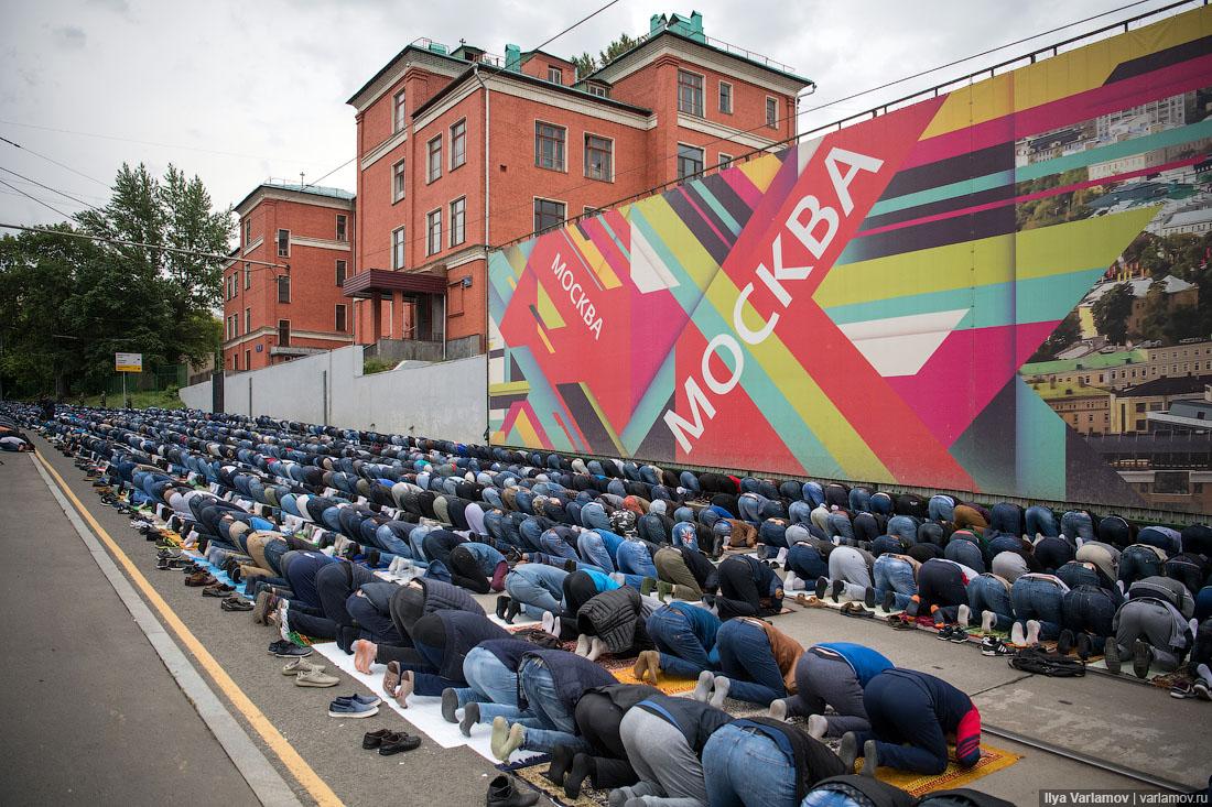 Московские мусульмане отметили окончание Рамадана!