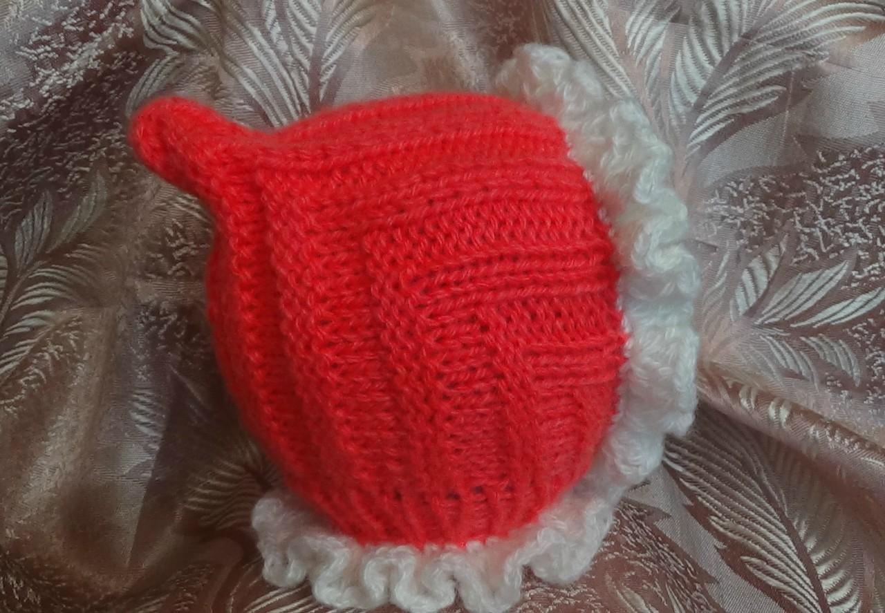 Детская шапочка спицами ЭЛЬФ. Baby hat knitting ELF