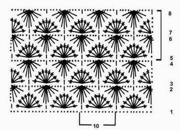 вязания звездочки узора схема видео крючком