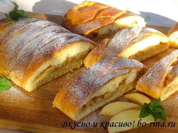 Десертный вихрь. Пироги с яблоками. Пирог-косичка с яблоками (картофельное тесто)