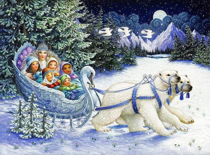 Новогодняя сказка в каждом рисунке Lynn Bywaters