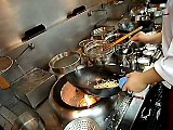 wok cooking by a Professional Chinese chef