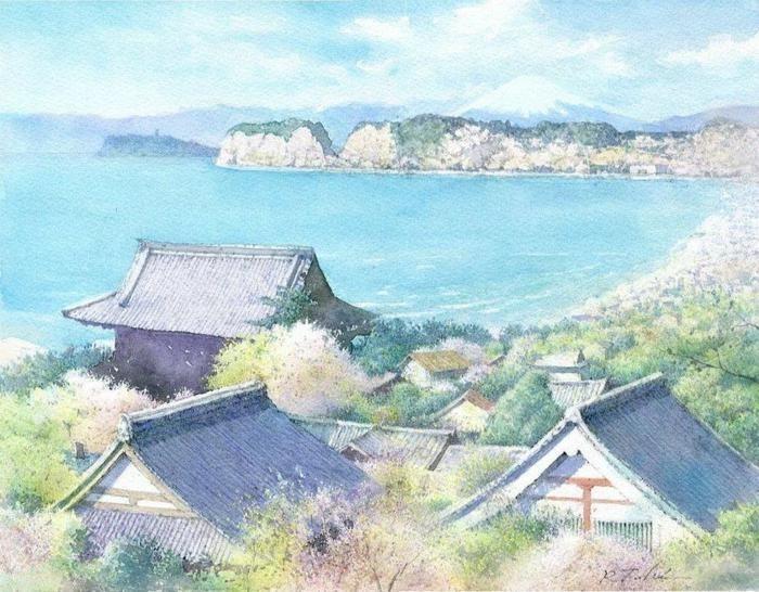 Чудесные акварели современного японского художника Ryoyu Fukui
