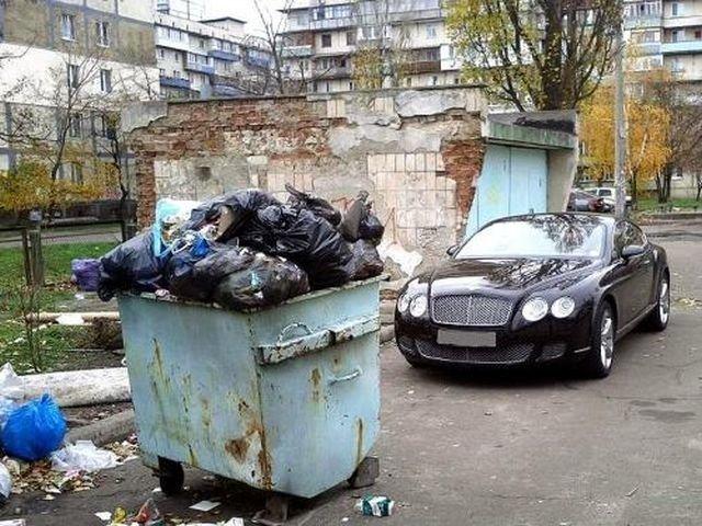 Россия - страна удивительных контрастов авто, бедность, богатство, контрасты, россия, фото, юмор