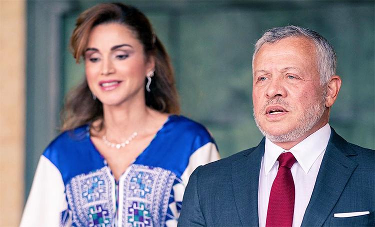 Король Абдалла и королева Рания на праздновании 74-го Дня независимости Иордании