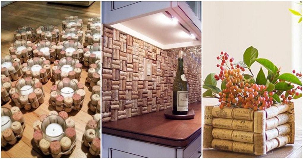 Простые и стильные идеи декора из винных пробок