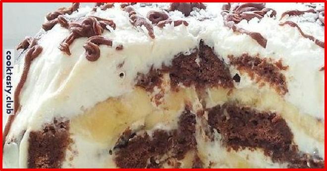 Торт из трех ингредиентов, без выпечки
