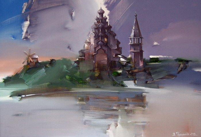 Уникальная манера письма — удивительные пейзажи Виктора Подгорного