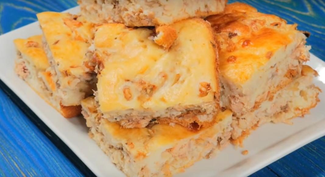 Заливной пирог с рыбкой — вкусно и полезно