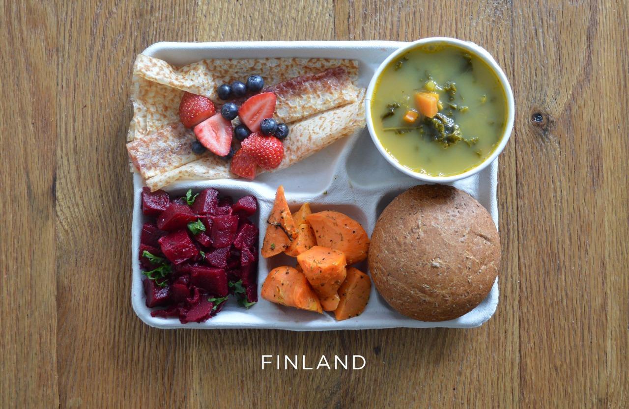 Финляндия ланч, обед, рацион, школа, школьный обед
