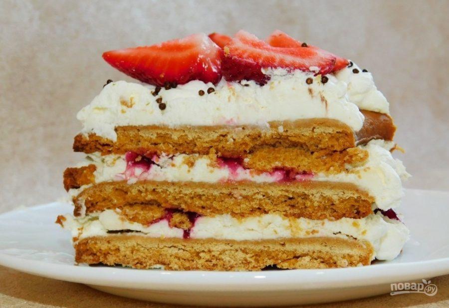 Медовый открытый торт «Цифра»