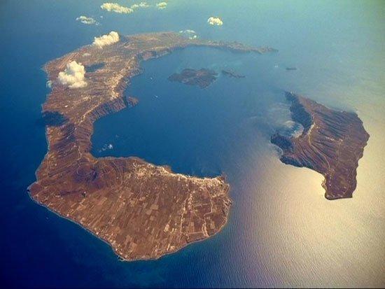 Санторин. Греция вулкан, вулканы, вулканы фото, природная катастрофа