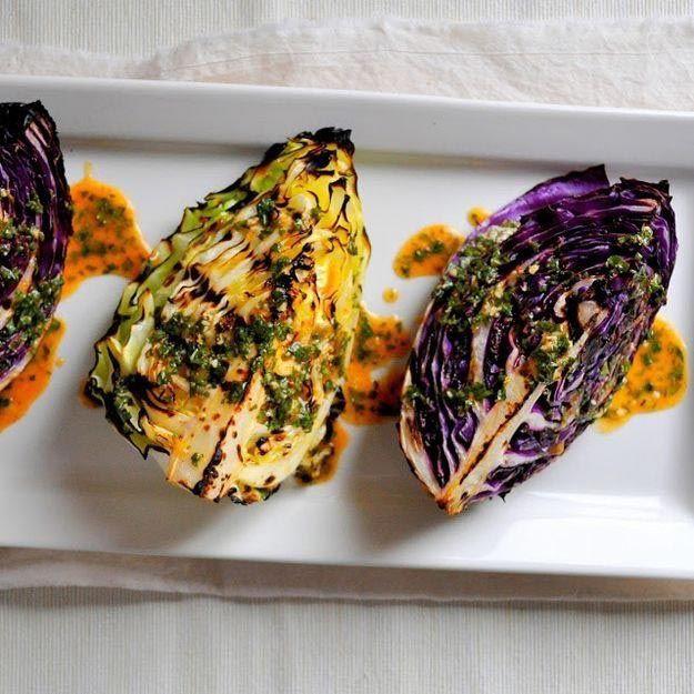 Жареная капуста с острым соусом лайм еда, овощи