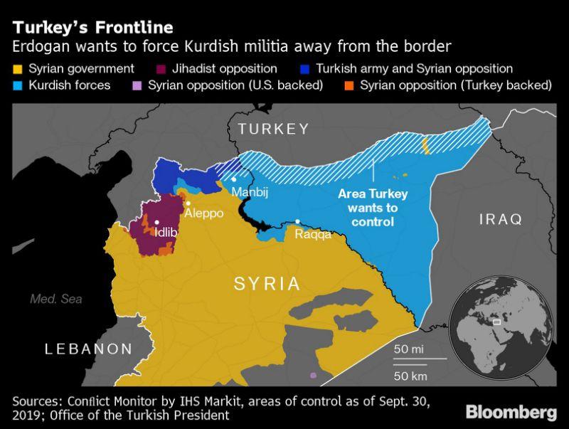Агрессия Турции закрепляет раздел Сирии на враждебные анклавы геополитика