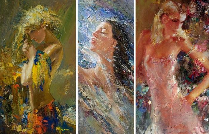 «Женщин много не бывает»: Экспрессивные портреты современного художника Мстислава Павлова
