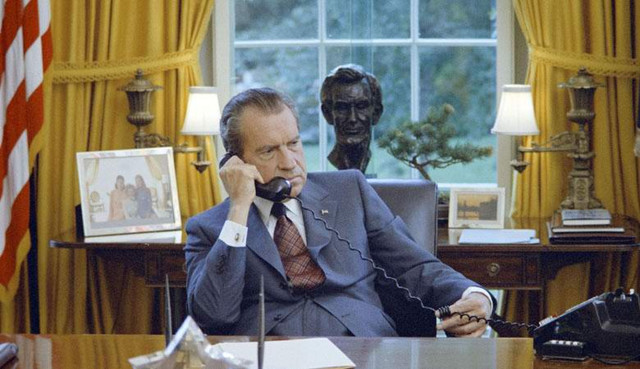 Ричард Никсон оставил в Бело…