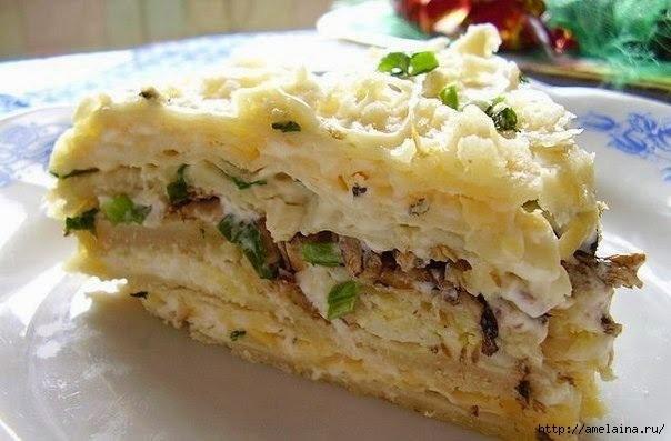 Шпротный торт - вкуснятинка