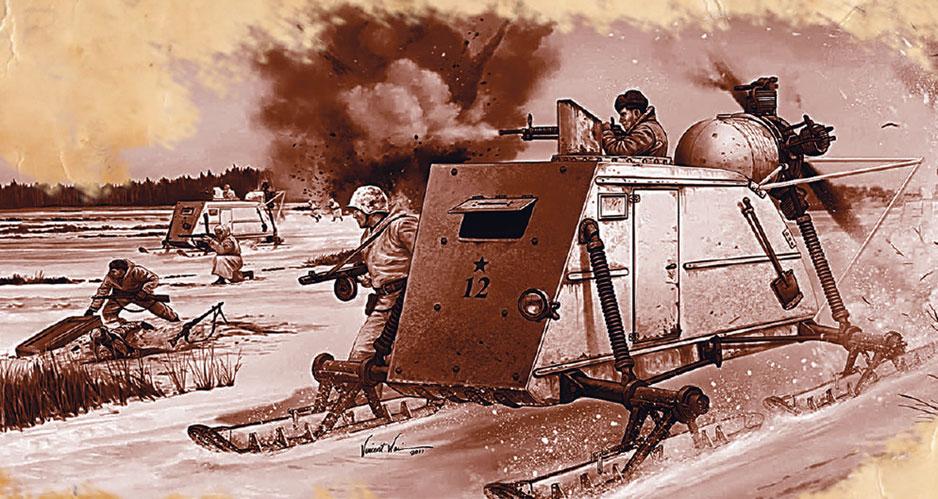 Летевшие по глубокому снегу танки приводили немцев в ужас аэросани
