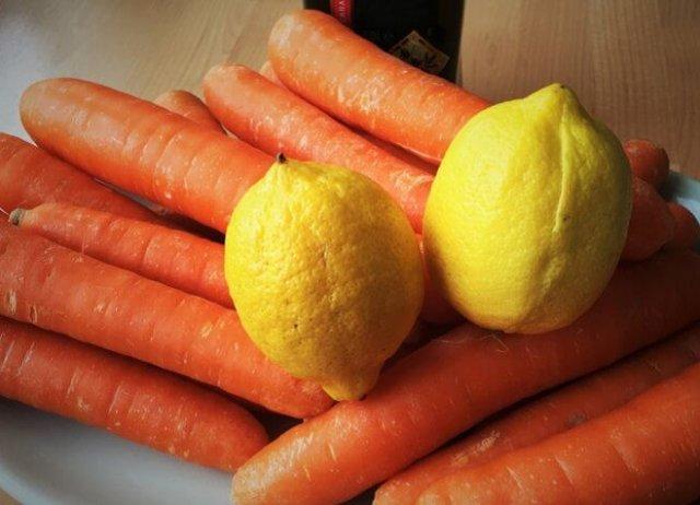 Морковно-лимонная маска для волос