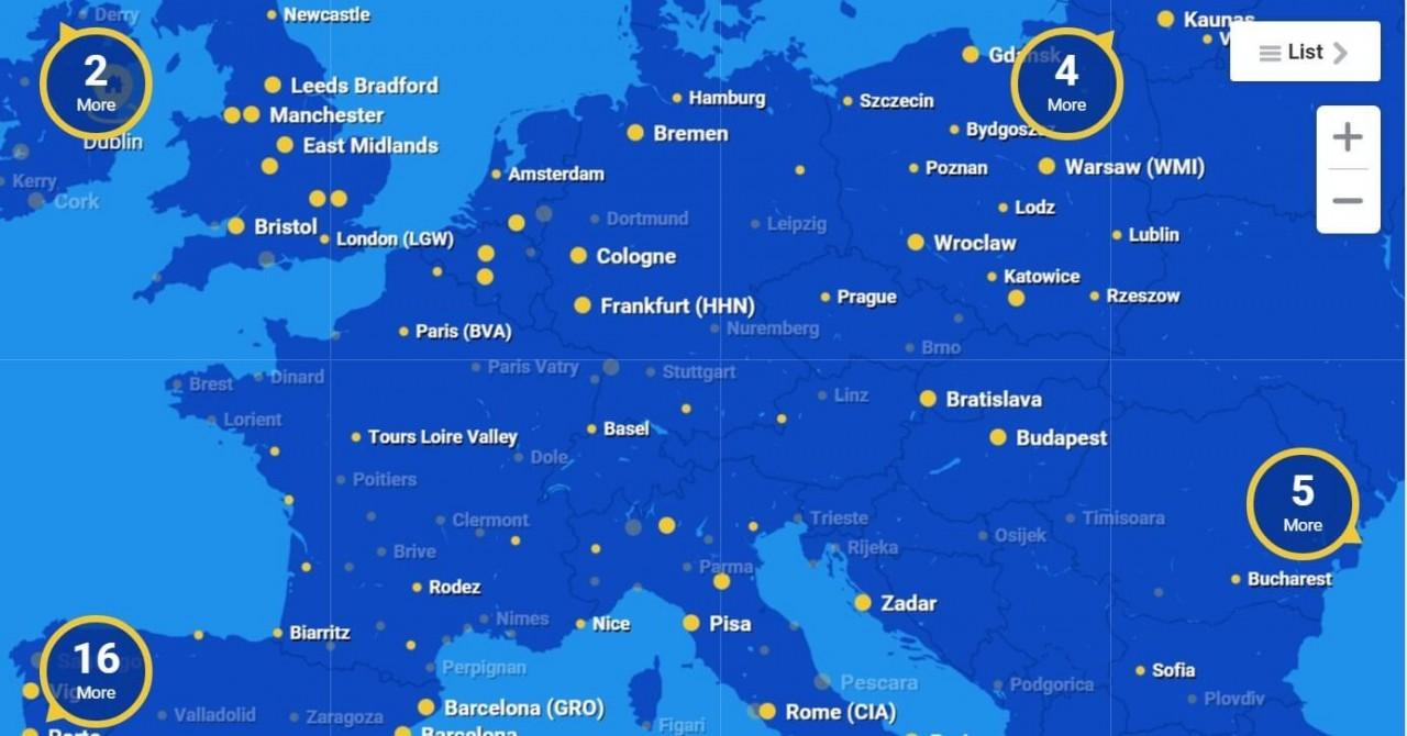Авиабилет в Европу за 19 евр…