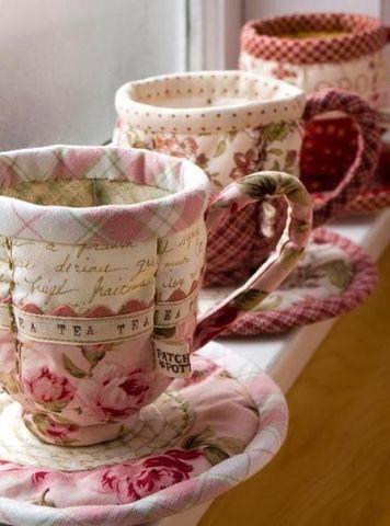 Текстильная посуда для мелочей, выкройки