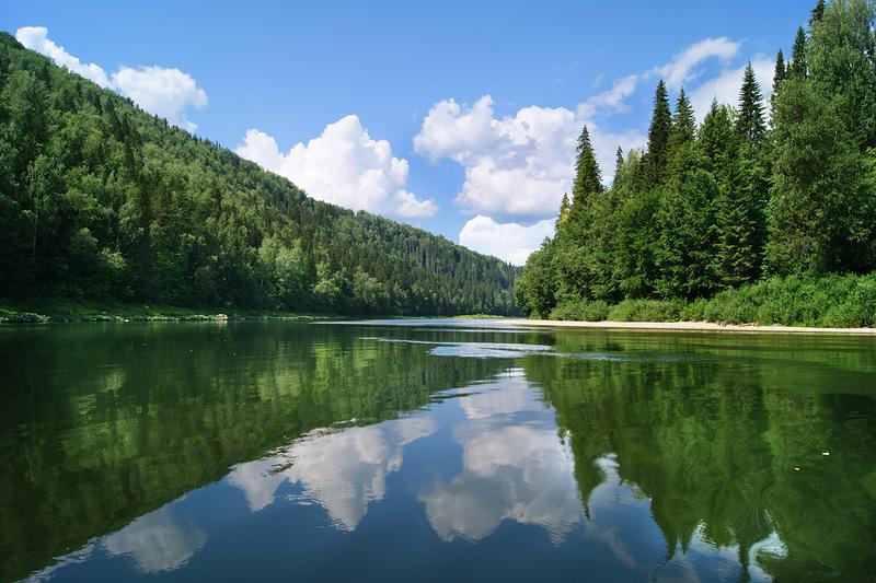 Красоты России. Реки и озера Южного Урала.