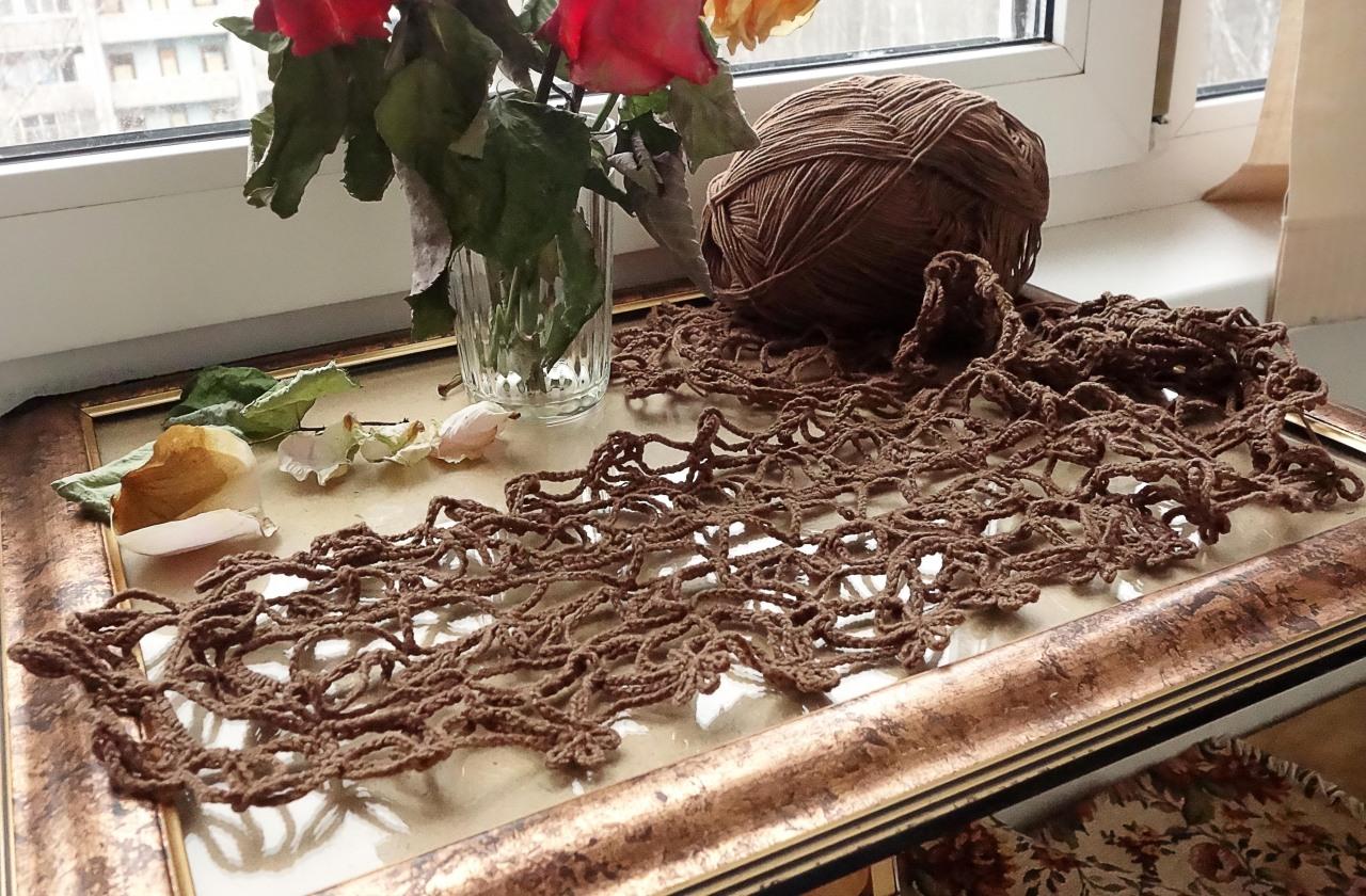 Скатерть, цвета шоколада
