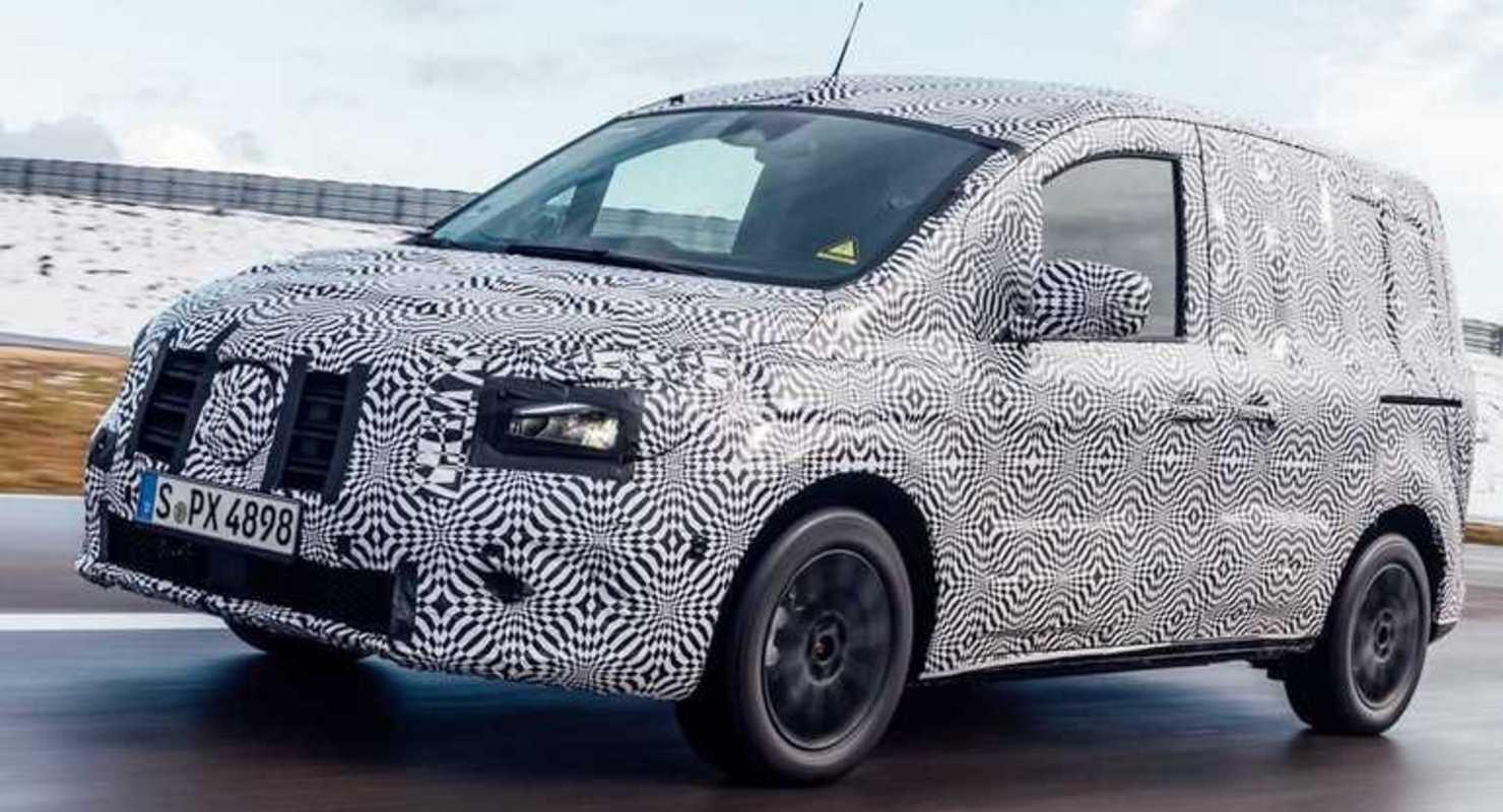 Mercedes показал на фото электрический фургон eCitan 2022 Автомобили