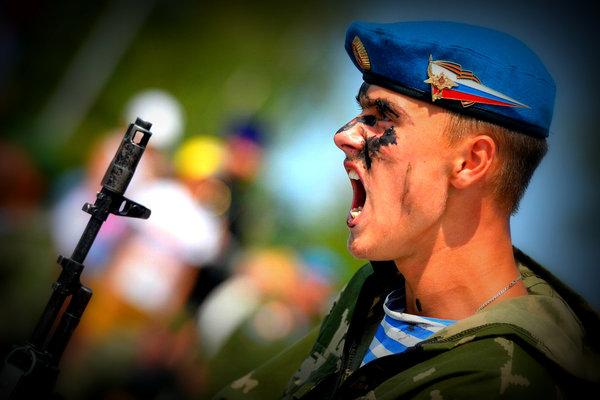 Как русские миротворцы ранен…