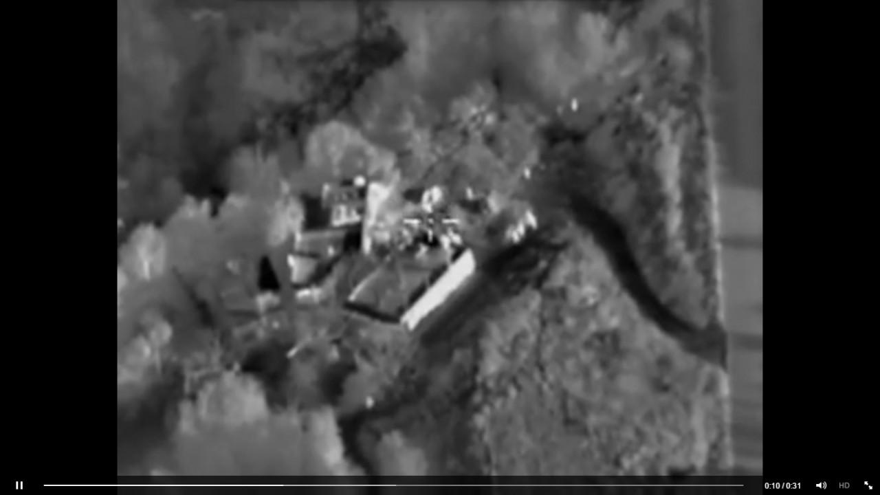 Видео от Минобороны: Как сказочно горит тренировочный лагерь ИГИЛ