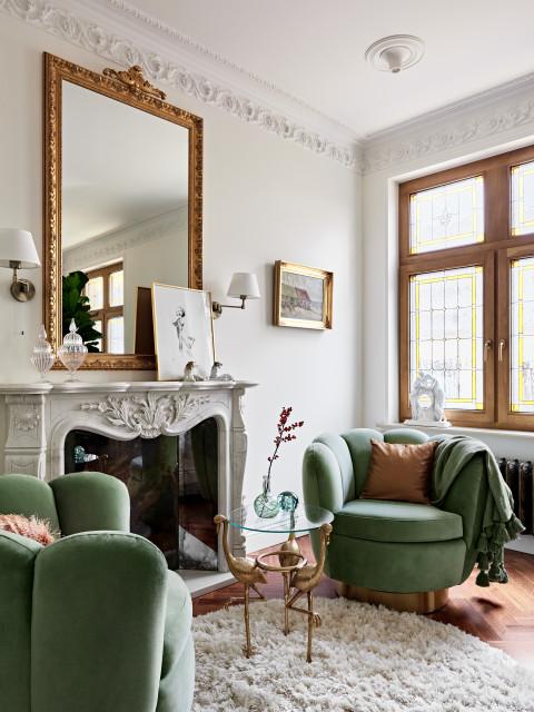 Квартира с прозрачной кухней и мраморными каминами идеи для дома,интерьер и дизайн