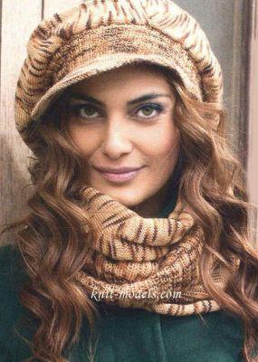 Кепка и шарф - женский комплект