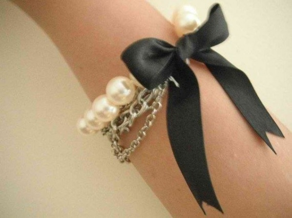 Браслет в стиле Коко Шанель аксессуары,рукоделие,своими руками