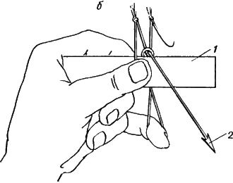 Узлы для вязки рыболовных сетей
