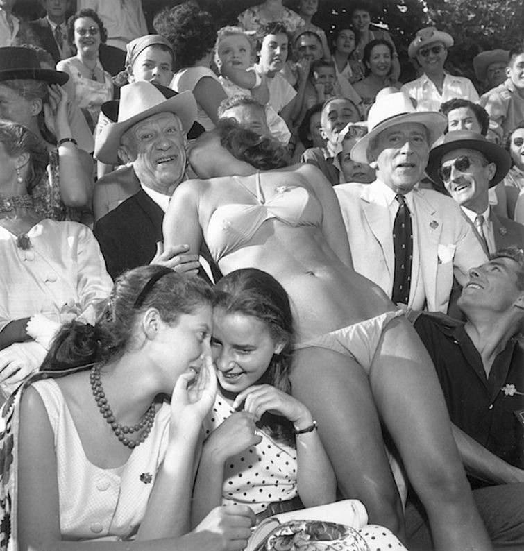Пикассо и Жан Кокто. Франция, 1956 год история, картинки, фото
