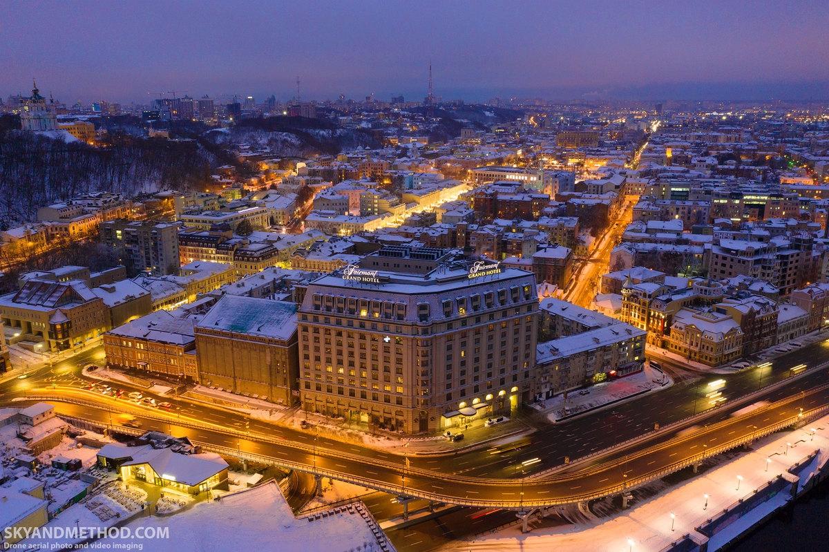 Какова зима в сегодняшнем Киеве на фото с квадрокоптера