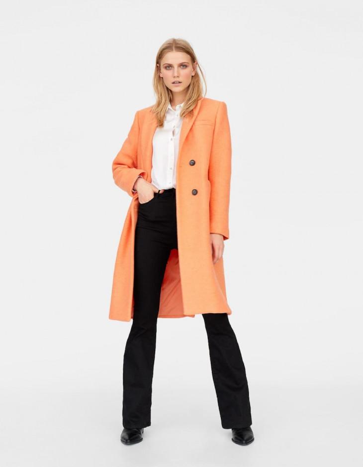 пальто страдивариус персиковое