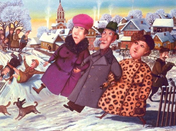 Зимние картины Валентина Губарева, которые вызывают улыбку и согревают душу