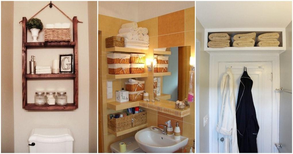 20 продуманных полочек для вашей маленькой ванной! Идеи для вдохновения